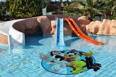 Resimli Çocuk Havuzu Fayansları