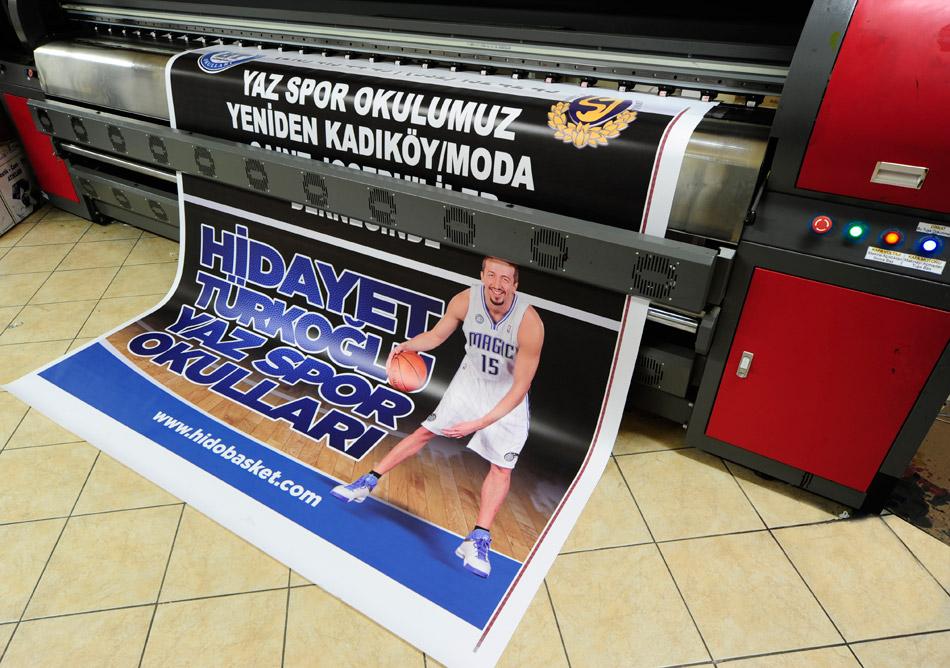 Hidayet Türkoğlu Basketbol Okulu Dijital Baskı