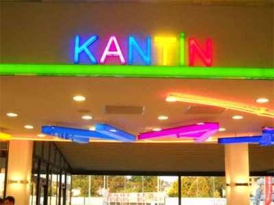 İDO Yalova kantini için yapılan led ışıklı kutu harf tabela çalışmamızdan örnek resim.